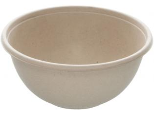 AKS178 - Buddha Bowl en Bagasse - Beige, 1000ml, ø 170 h80mm