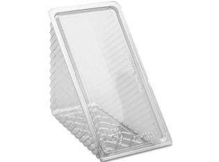 BCH784 - Triangle sandwich extra large en PET - Transparent, 185x110x85mm