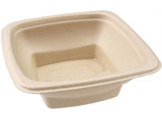 BKR155 - Bol Square en Bagasse - Beige, 500ml, 150x150x5mm