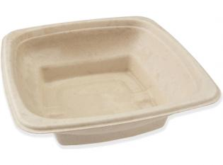 BKR185 - Bol Square en Bagasse - Beige, 750ml, 180x180x5mm