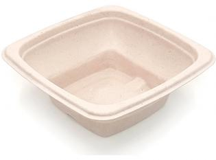BKR186 - Bol Square en Bagasse - Beige, 1000ml, 180x180x6mm