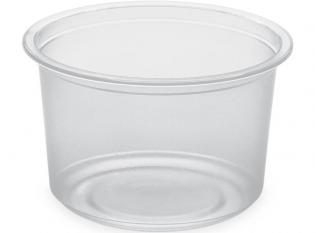 BDT16n - Pot Gourmet en PET - Transparent, 470ml, ø118 h 75mm